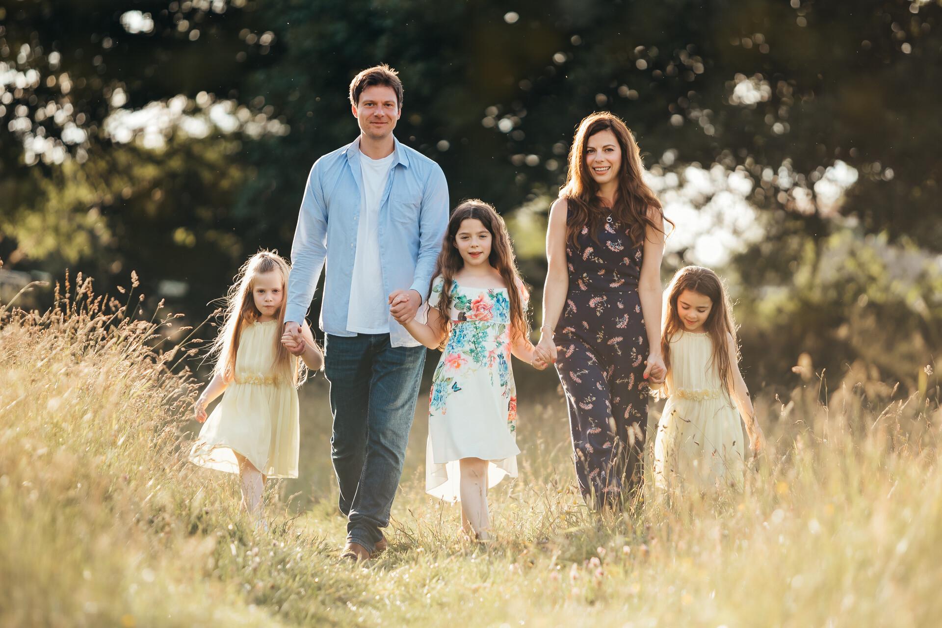 Family portrait photography - outdoor location portrait