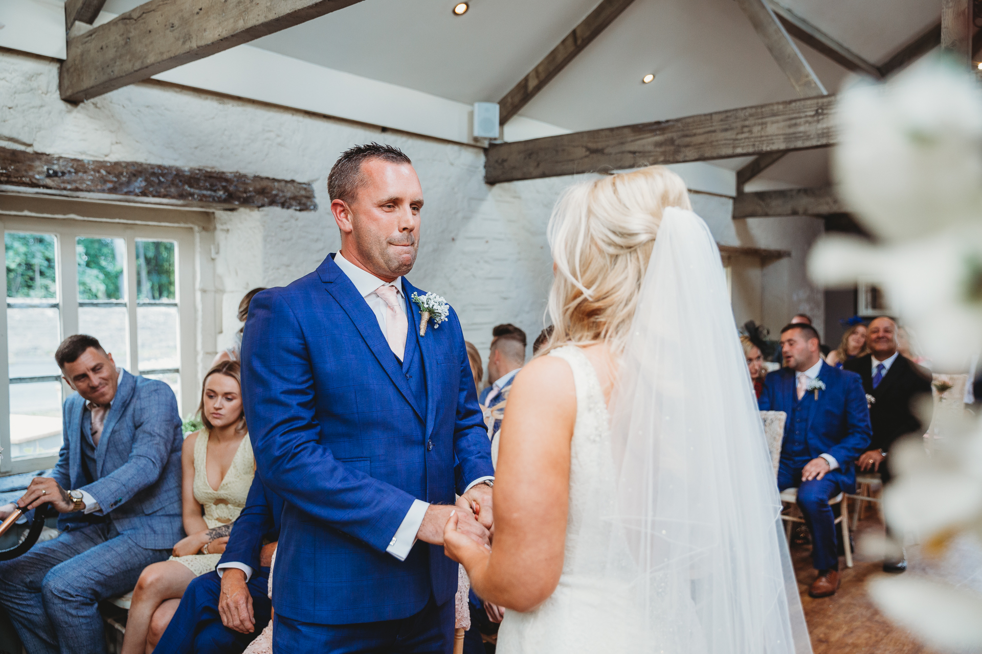exchanging of vows, Blagdon Parlour