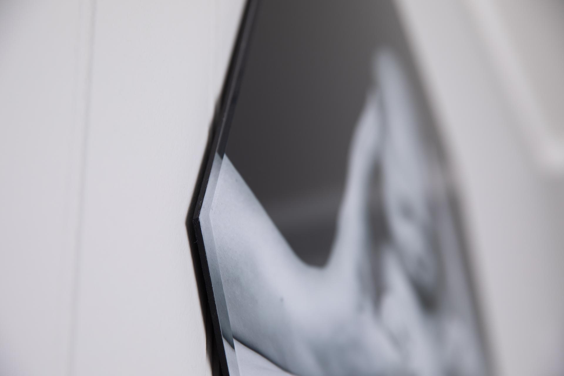 Product - acrylic frame black and white photo edge